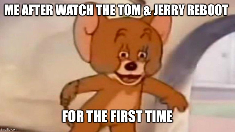 ME AFTER WATCH THE TOM & JERRY REBOOT FOR THE FIRST TIME | image tagged in funny memes,memes | made w/ Imgflip meme maker