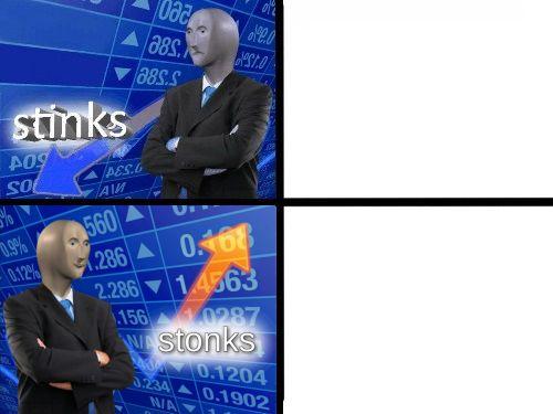 Stinks Stonks Blank Template - Imgflip