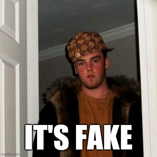 Scumbag Steve Meme | IT'S FAKE | image tagged in memes,scumbag steve | made w/ Imgflip meme maker
