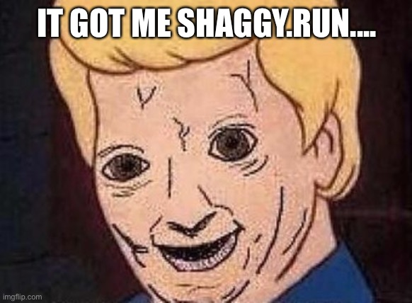 Shaggy this isnt weed fred scooby doo | IT GOT ME SHAGGY.RUN.... | image tagged in shaggy this isnt weed fred scooby doo | made w/ Imgflip meme maker