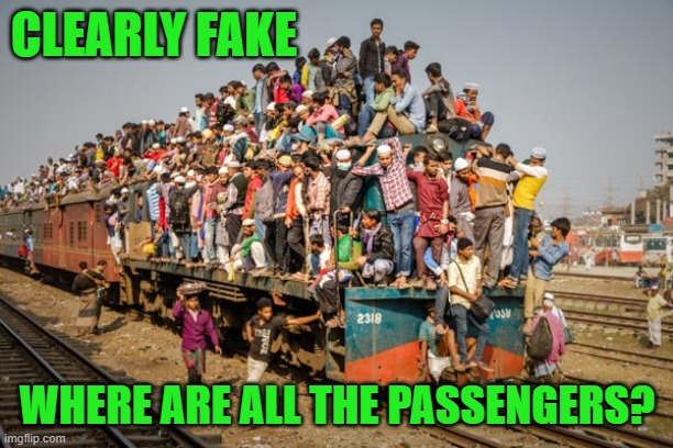 CLEARLY FAKE WHERE ARE ALL THE PASSENGERS? | made w/ Imgflip meme maker