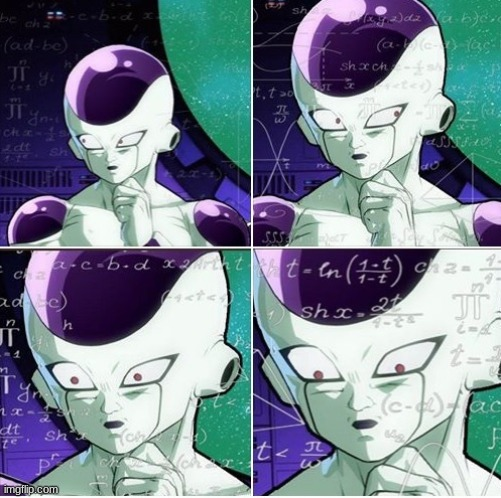 Thinking Frieza | image tagged in thinking frieza | made w/ Imgflip meme maker