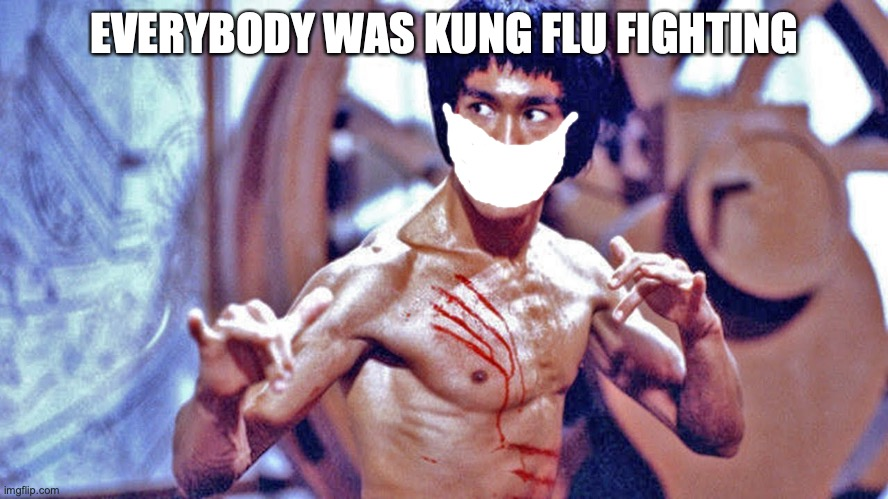 EVERYBODY WAS KUNG FLU FIGHTING | image tagged in bruce lee,kung flu | made w/ Imgflip meme maker