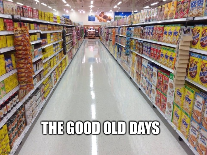 Coronavirus |  THE GOOD OLD DAYS | image tagged in coronavirus,coronavirus meme,empty stores,pandemic,empty store shelves meme | made w/ Imgflip meme maker