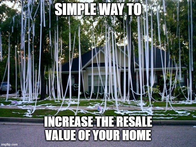 TP Home Value | SIMPLE WAY TO INCREASE THE RESALE VALUE OF YOUR HOME | image tagged in tp,toilet paper,coronavirus | made w/ Imgflip meme maker