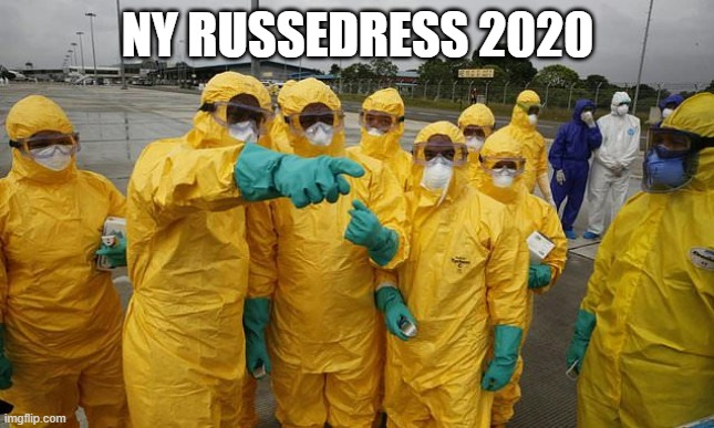 Coronavirus Body suit | NY RUSSEDRESS 2020 | image tagged in coronavirus body suit | made w/ Imgflip meme maker