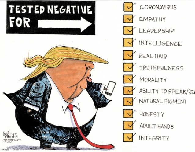 Trump Is A Negative | image tagged in trump is a negative | made w/ Imgflip meme maker
