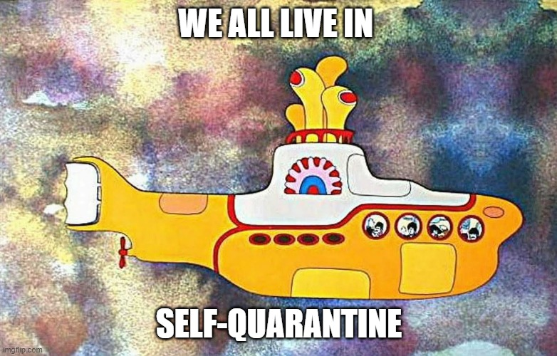 WE ALL LIVE IN SELF-QUARANTINE | image tagged in yellow submarine | made w/ Imgflip meme maker