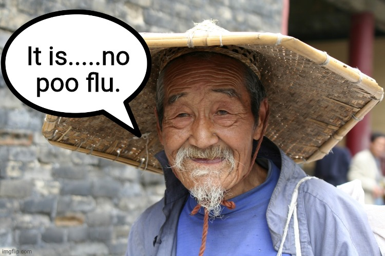 It is.....no poo flu. | image tagged in chinaman | made w/ Imgflip meme maker