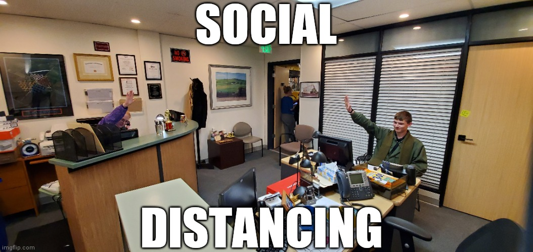 Social Distancing |  SOCIAL; DISTANCING | image tagged in theoffice,coronavirus | made w/ Imgflip meme maker