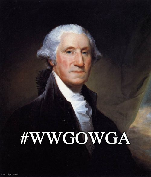 George Washington | #WWGOWGA | image tagged in memes,george washington | made w/ Imgflip meme maker