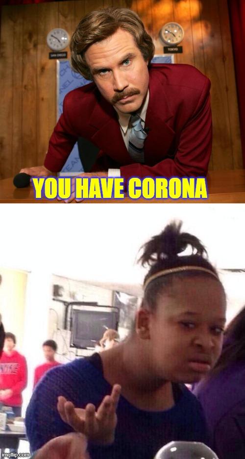 corona girls meme