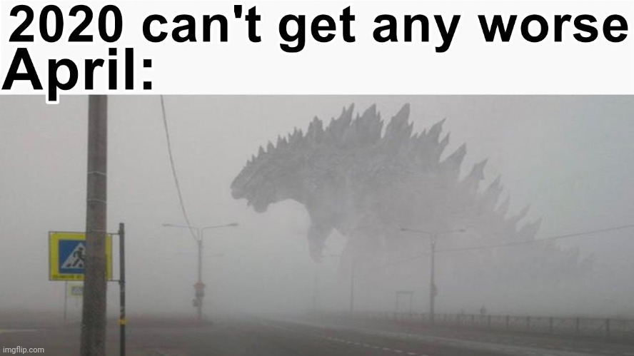 image tagged in 2020,godzilla | made w/ Imgflip meme maker