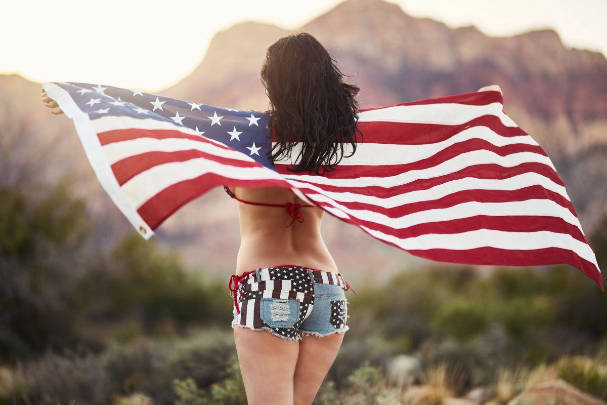 American flag bikini butt — photo 6
