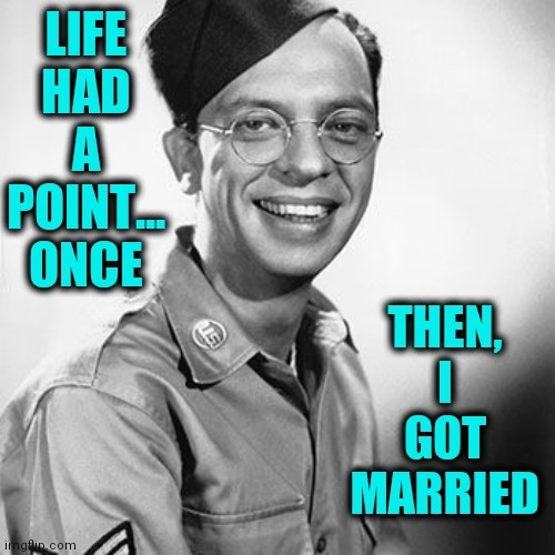 Remember Fun? Oh, yeah... that was when I was single. |  THEN, I GOT MARRIED; LIFE HAD A POINT... ONCE | image tagged in vince vance,don knotts,marriage,single,private,single life | made w/ Imgflip meme maker