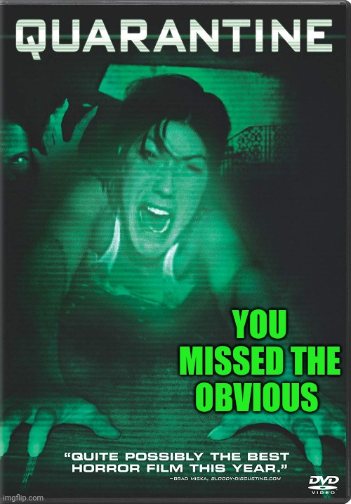 YOU MISSED THE OBVIOUS | made w/ Imgflip meme maker