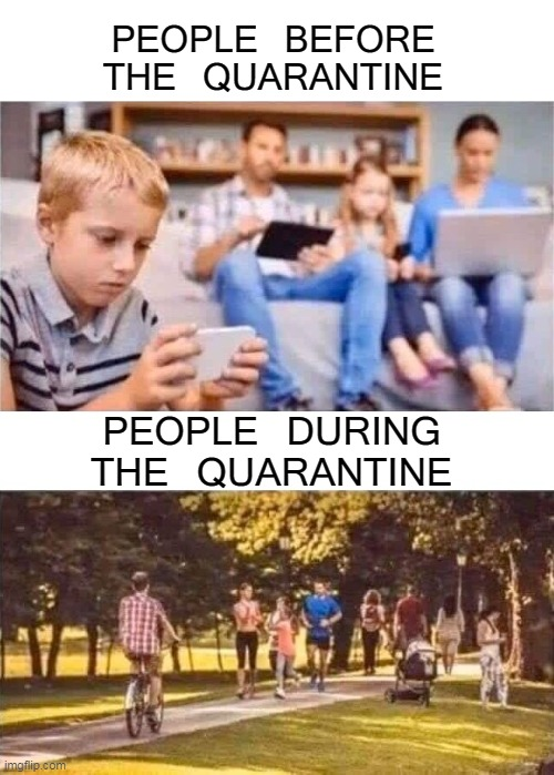 Get up Come one Get Down With The Sickness | PEOPLE BEFORE THE QUARANTINE PEOPLE DURING THE QUARANTINE | image tagged in memes,triggered,coronavirus,corona,quarantine,covid-19 | made w/ Imgflip meme maker