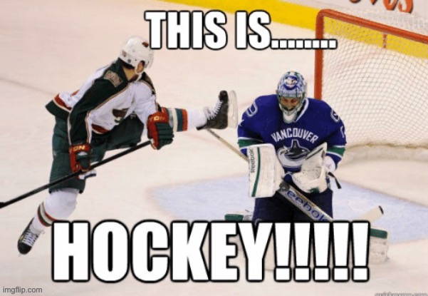This is Hockey!!!! | image tagged in hockey,this is sparta | made w/ Imgflip meme maker