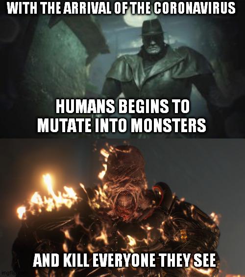 Resident Evil 2 Remake Mr X Latest Memes Imgflip