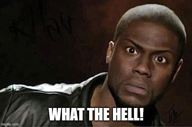 Kevin Hart Meme | WHAT THE HELL! | image tagged in memes,kevin hart | made w/ Imgflip meme maker