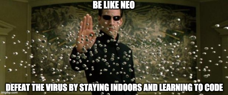 Neo in the Matrix controlling bullets