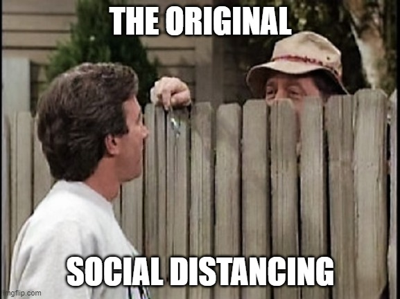 Home Improvement Tim and Wilson |  THE ORIGINAL; SOCIAL DISTANCING | image tagged in home improvement tim and wilson | made w/ Imgflip meme maker