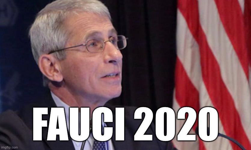 Fauci 2020 | FAUCI 2020 | image tagged in fauci,2020,election 2020,dr fauci,anthony fauci,coronavirus | made w/ Imgflip meme maker
