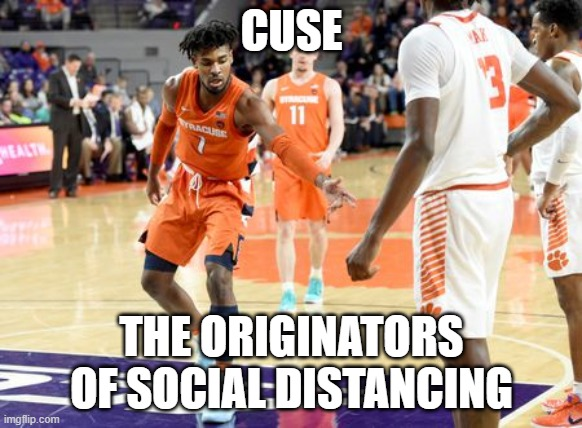 CUSE; THE ORIGINATORS OF SOCIAL DISTANCING | image tagged in funny | made w/ Imgflip meme maker