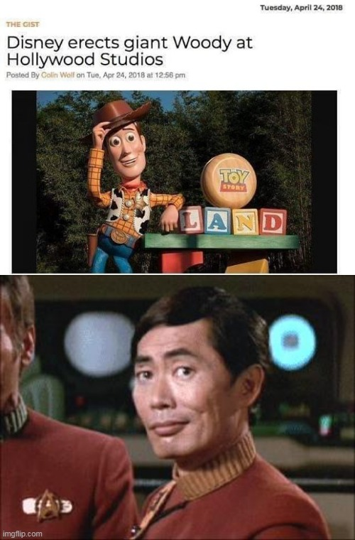 OH MY | image tagged in sulu oh my,memes,woody,disney,toy story | made w/ Imgflip meme maker