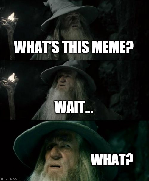 Confused Gandalf |  WHAT'S THIS MEME? WAIT... WHAT? | image tagged in memes,confused gandalf | made w/ Imgflip meme maker