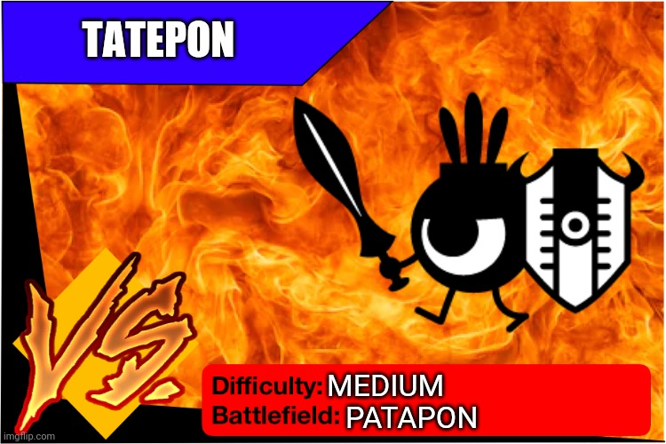 Tatepon (Patapon) |  TATEPON; MEDIUM; PATAPON | image tagged in patapon | made w/ Imgflip meme maker