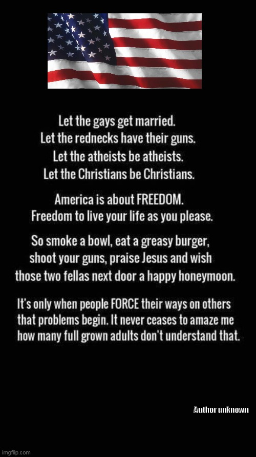 Live and Let Live | Author unknown | image tagged in politics,political meme,republican party,conservatives,freedom,america,ConservativeMemes | made w/ Imgflip meme maker