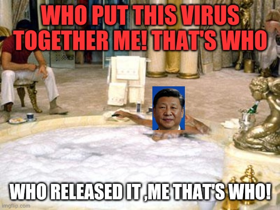 tony Montana  |  WHO PUT THIS VIRUS TOGETHER ME! THAT'S WHO; WHO RELEASED IT ,ME THAT'S WHO! | image tagged in tony montana | made w/ Imgflip meme maker