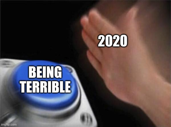 Blank Nut Button Meme |  2020; BEING TERRIBLE | image tagged in memes,blank nut button | made w/ Imgflip meme maker