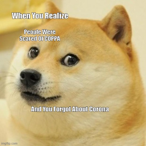 Doge |  When You Realize; People Were Scared Of COPPA; And You Forgot About Corona | image tagged in memes,doge | made w/ Imgflip meme maker