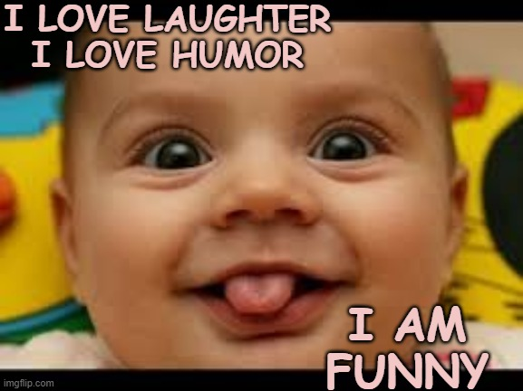 I am Funny | I LOVE LAUGHTER I LOVE HUMOR I AM FUNNY | image tagged in affirmation,laugh,humor,funny | made w/ Imgflip meme maker