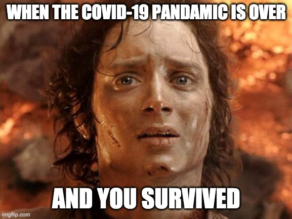 It's Finally Over |  WHEN THE COVID-19 PANDAMIC IS OVER; AND YOU SURVIVED | image tagged in memes,its finally over | made w/ Imgflip meme maker