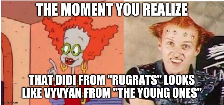 "Yes, I know. Krusty the Clown from ""The Simpsons"" also has this hairstyle. 