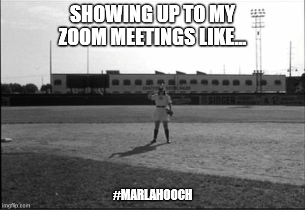 SHOWING UP TO MY ZOOM MEETINGS LIKE... #MARLAHOOCH | image tagged in eyebrows,covid-19,covid19,covid 19,covid,quarantine | made w/ Imgflip meme maker