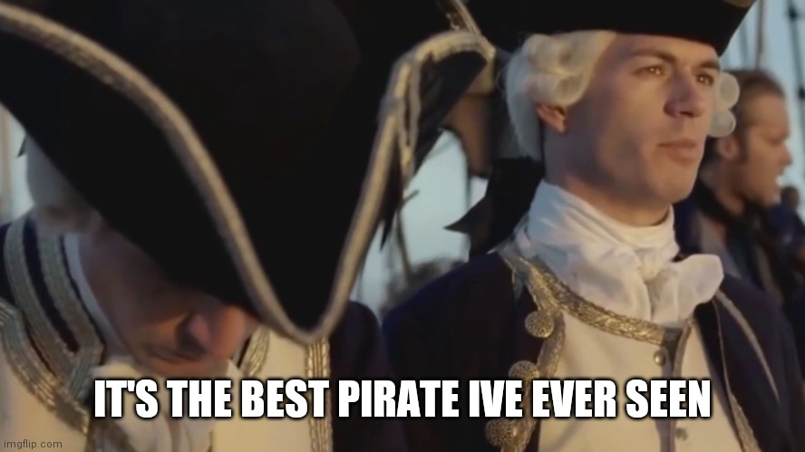 IT'S THE BEST PIRATE IVE EVER SEEN | image tagged in thats gotta be the best pirate i've ever seen | made w/ Imgflip meme maker