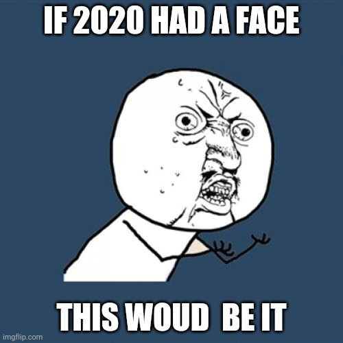 Y U No | IF 2020 HAD A FACE THIS WOUD  BE IT | image tagged in memes,y u no | made w/ Imgflip meme maker