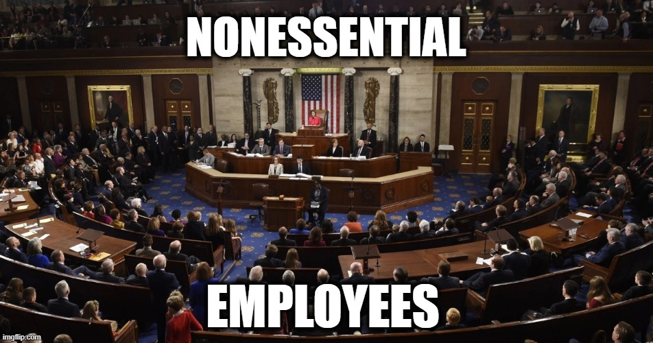 Worthless Scoundrels | NONESSENTIAL EMPLOYEES | image tagged in politics,political meme,politics lol,political humor,congress,criminal minds | made w/ Imgflip meme maker