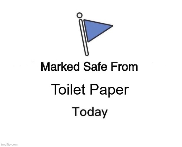 Marked Safe From | Toilet Paper | image tagged in memes,marked safe from | made w/ Imgflip meme maker