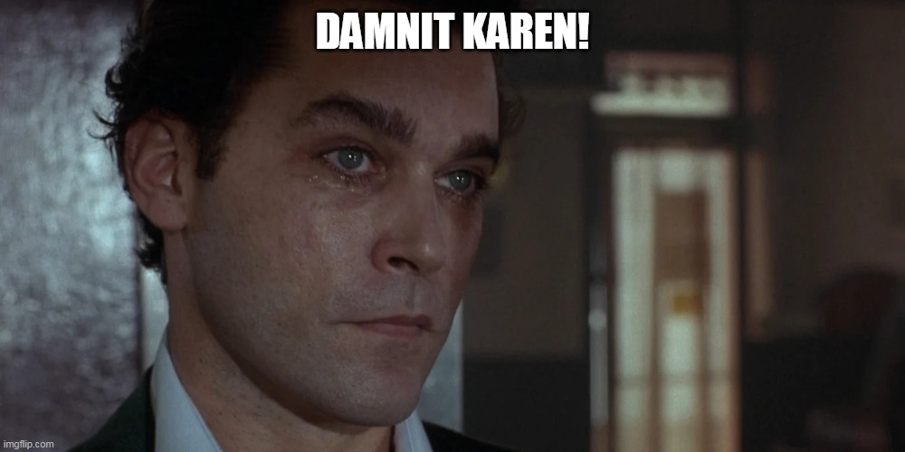 DAMNIT KAREN! | image tagged in omg karen,check on karen,goodfella,henry | made w/ Imgflip meme maker