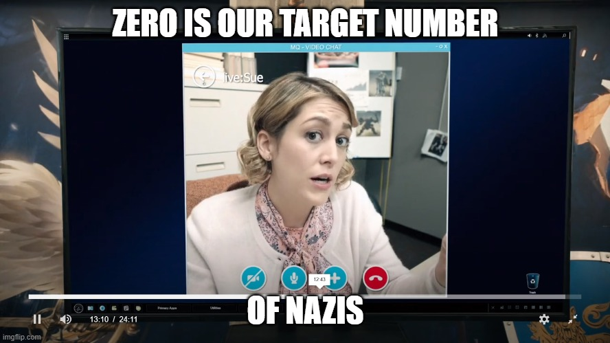 Zero is our target number of nazis |  ZERO IS OUR TARGET NUMBER; OF NAZIS | image tagged in antifa | made w/ Imgflip meme maker