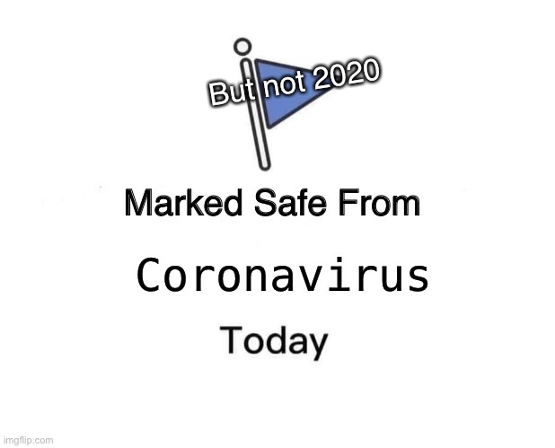 Marked Safe From | Coronavirus But not 2020 | image tagged in memes,marked safe from | made w/ Imgflip meme maker