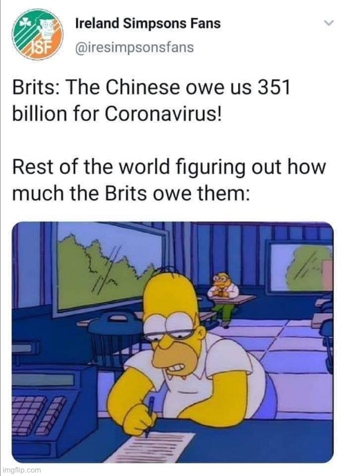 Oof size large, Britain. Oof size large. | image tagged in repost,historical meme,coronavirus,covid-19,britain,china | made w/ Imgflip meme maker