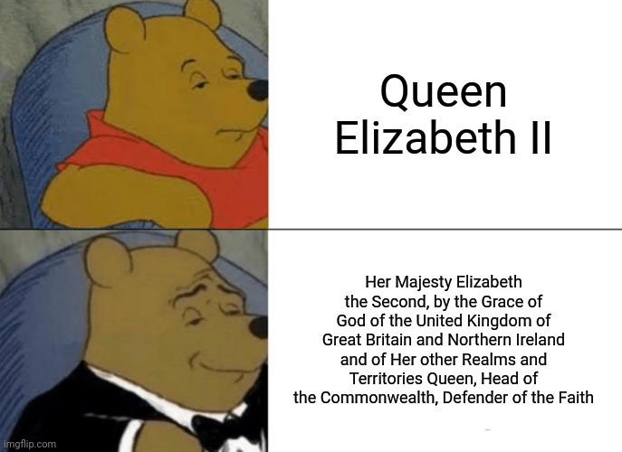 """That's too many words for a British monarch."" 