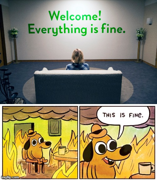 Holy forking shirt, this isn't the good place!!! | image tagged in memes,this is fine,the good place,everything is fine | made w/ Imgflip meme maker