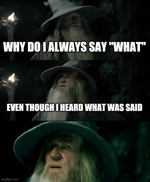 "Confused Gandalf |  WHY DO I ALWAYS SAY ""WHAT""; EVEN THOUGH I HEARD WHAT WAS SAID 